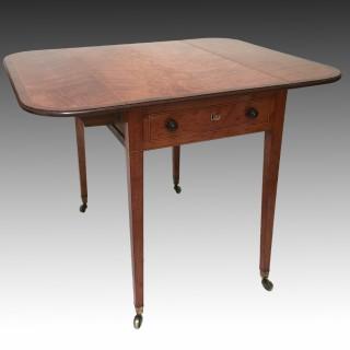 George III Satinwood Pembroke Table