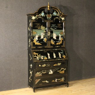 20th Century Lacquered Chinoiserie Trumeau