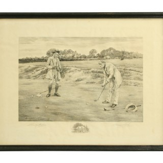 VINTAGE GOLF PRINT 'THE STYMIE'.
