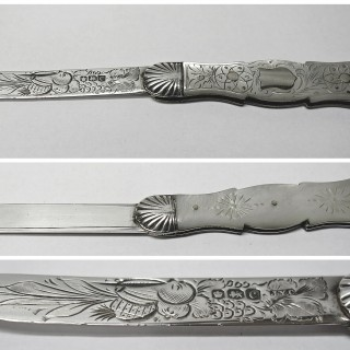 Antique Silver and Mother of Pearl Fruit Knife