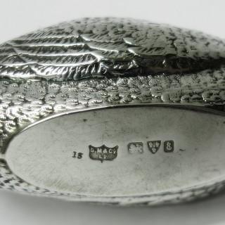 Antique Silver Duck Pin Cushion