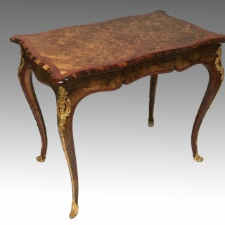 Victorian Walnut & Tulipwood Card Table attributed to Gillows