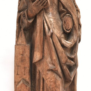 Carved Lime Wood Figure of St Barbara c.1520