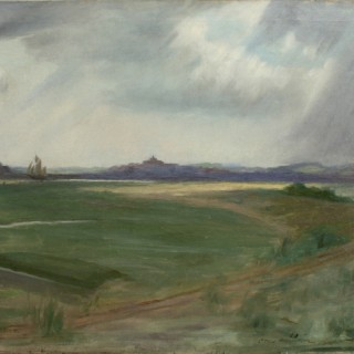 Golf painting, A View of Rye Harbour.