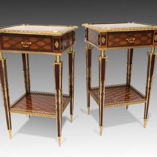 A Matched Pair of Victorian Dot & Trellis Parquetry Tables Firmly Attributed to Donald Ross