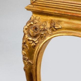Giltwood free standing Napoleon lll square display cabinet