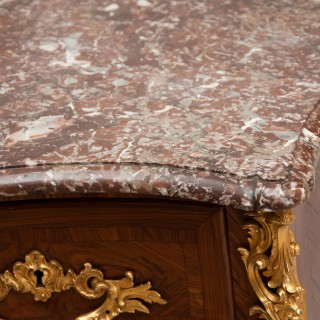 LOUIS XV KINGWOOD MARQUETRY COMMODE