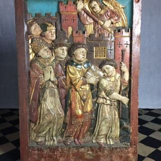 A Well Carved 15th Century Panel, c. 1450