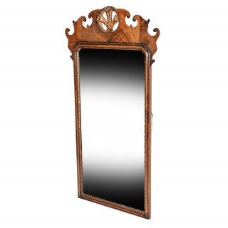 George I Style Walnut Mirror