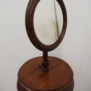 Late Victorian Adjustable Mahogany Dressing Stand