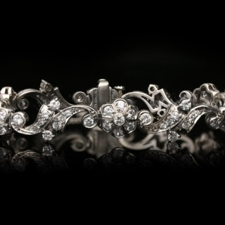Tiffany & Co. diamond bracelet, American, circa 1940.