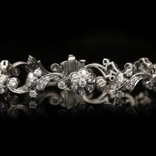 Tiffany & Co. diamond bracelet, American, circa 1940.