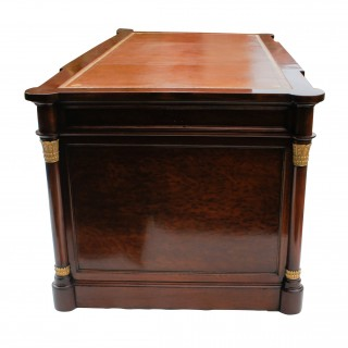 Antique French Mahogany Empire Style Desk with Ormolu Mounts