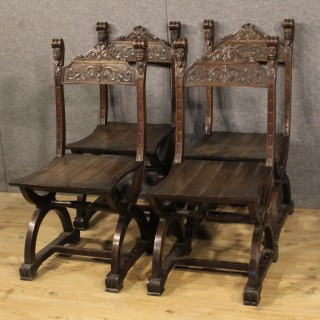 20th Century Group Of Four Chairs In Renaissance Style