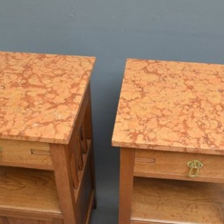 Pair of Arts and Crafts Bedside Cabinets