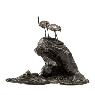 Meiji period bronze okimono