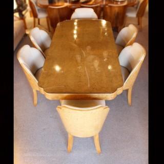 Art Deco Cloud Back Dining Suite
