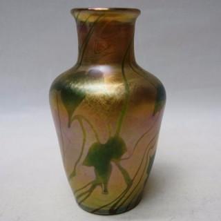 Antique Tiffany Favrile Glass Vase