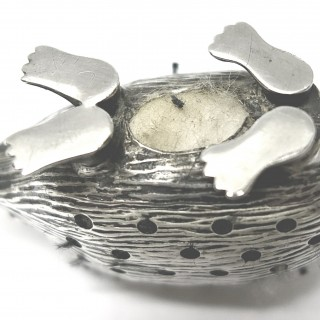 Antique Silver Hedgehog Pin Cushion