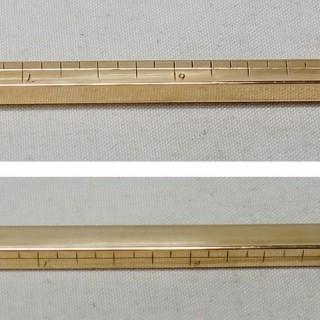 9 Carat Gold Extending Ruler