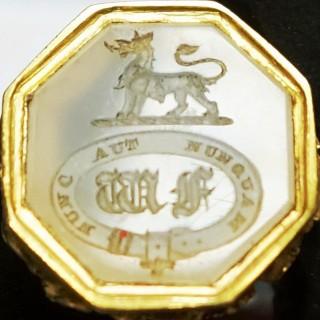 Antique Gold Mounted Desk Seal
