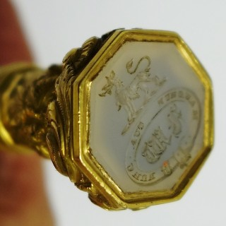 Antique Gold Mounted Desk Seal