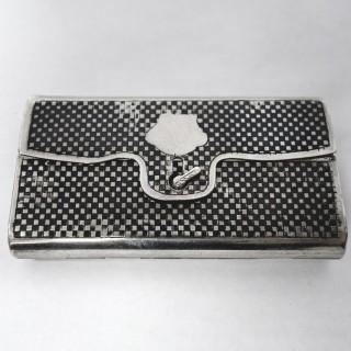 Antique Russian Silver and Niello Cigarette Case