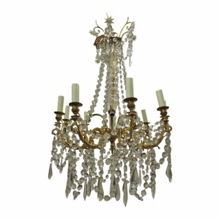 French Crystal and Ormolu Chandelier