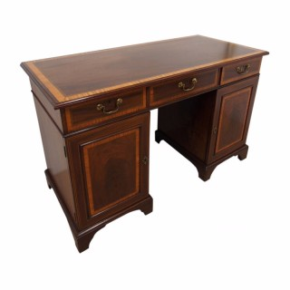 George III Inlaid Mahogany Kneehole Desk