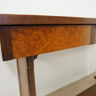 Whytock and Reid Figured Walnut Side / Library Table