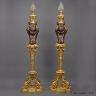 Pair of Napoléon III Figural Torcheres