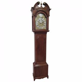 George III Oak Grandfather Clock by James Ivory, Dundee