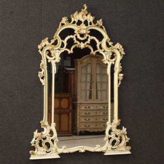 20th Century Venetian Lacquered Mirror