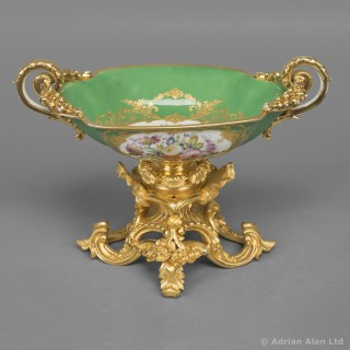 Gilt-Bronze Mounted Sèvres Style Porcelain Coupe