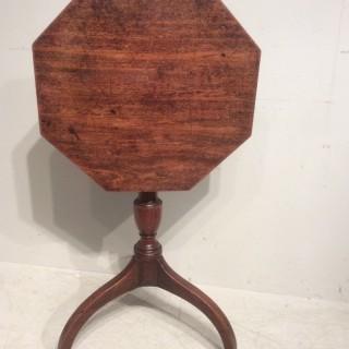 Georgian octagonal tripod table