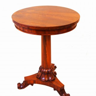 Antique William IV Rosewood Circular Lamp Table