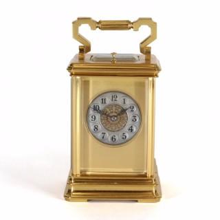 Masked Arabic Dial Striking Carriage Clock