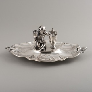 VICTORIAN SILVER INKWELL