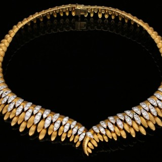 Mauboussin Paris diamond set necklace, circa 1962.