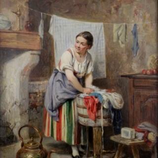 Leon Emile Caille.   Washing Day.