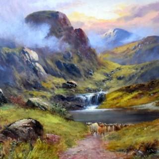 Joseph Wrightson McIntyre.  Cattle in Glencoe.