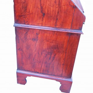Antique 18th Century Solid Walnut Bureau Bookcase
