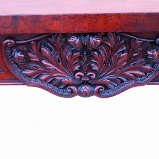 Antique English Magnificent Regency Mahogany Console Table