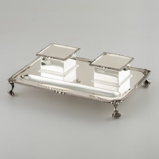ENGLISH SILVER INKWELL