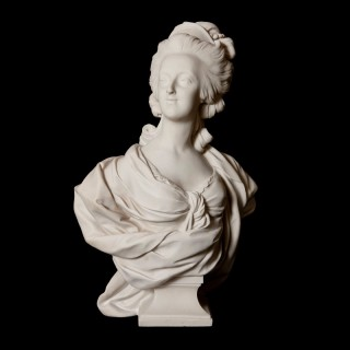 French antique marble bust of Marie Antoinette