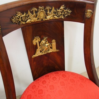 Set of 4 Empire Revival Side Chairs