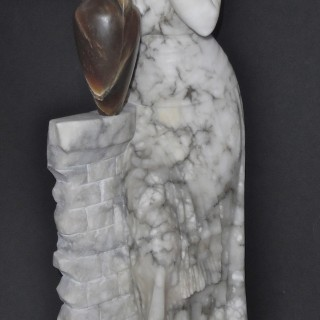 An Italian alabaster sculpture of a lady by Pugi