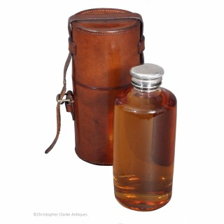 Leather Cased Flask By Drew & Sons