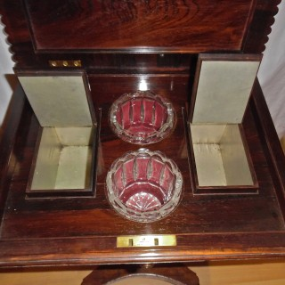 A William IV period rosewood teapoy