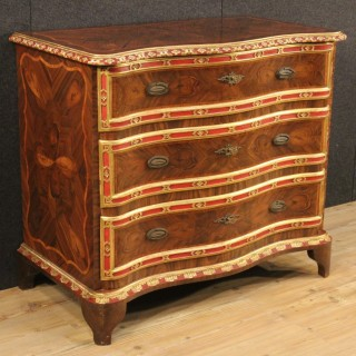 20th Century Italian Inlaid Dresser In Rosewood And Palisander